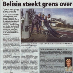 Belisia steekt grens over